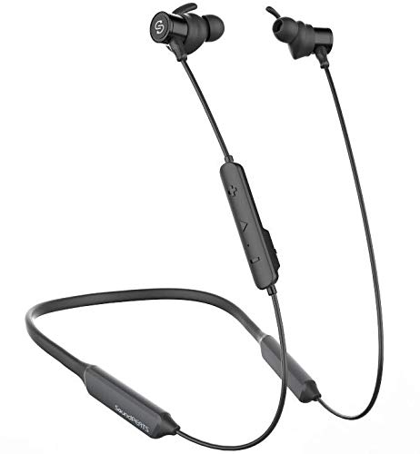 SoundPEATS Force Bluetooth Headphones Wireless Neckband Headset Stereo Bass in-Ear Magnetic Earbuds for Workout (16 Hours Playtime, Built-in Mic, CVC 6.0, IPX5)