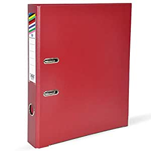FIS PP Lever Arch Files with Slide-In Plate Maroon Color, Size of Spine is 4cm, A4 (210 X 297 mm) - FSBF4A4PMR