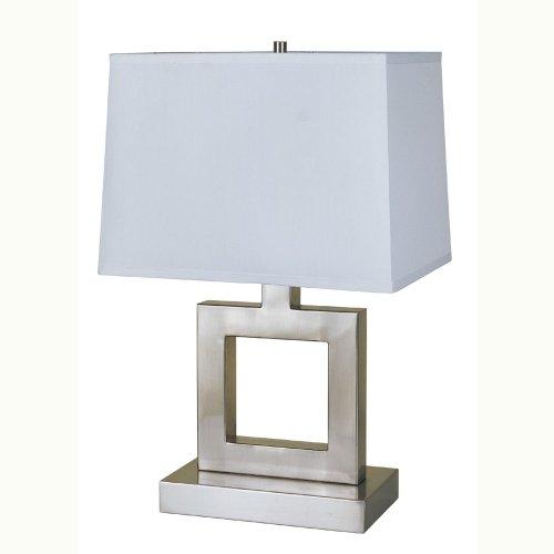 ORE International 8137S 22-Inch Satin Nickel Metal Table Lamp
