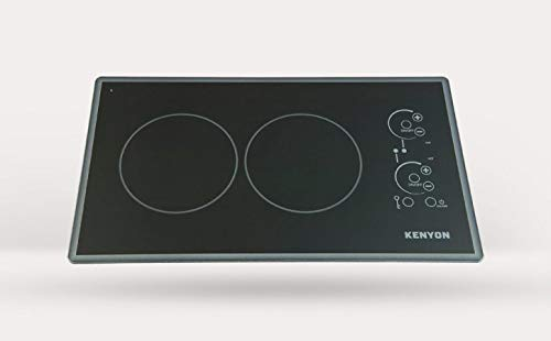 Kenyon B41779L Lite-Touch Q Cortez 2-burner Trimline Cooktop, black with touch control, landscape - two 6 .5 inch 208V UL