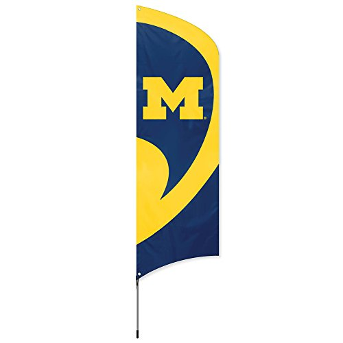 (Party Animal NCAA Michigan Wolverines College Tailgating Flag Kit)