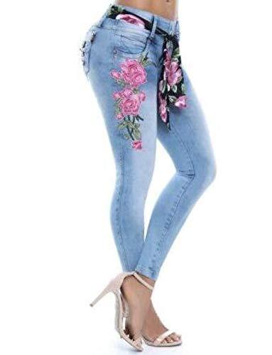 PENGYUE - Jeans - Femme Bleu Fonc