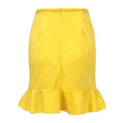 Jupe Lotus Jaune Unie de t Couleur Feuille Irregulier Chic Soire Fte Fashion de Package Freestyle Plage Jupes t Femme Hanche de Gala Sexy Mini C 7vqwwp