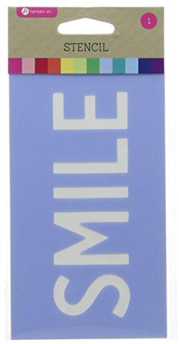 Stencil 3.5''X6''-Smile by Hampton Art (Image #3)