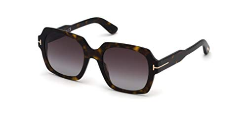 Tom Ford FT0660 52T Dark Havana Autumn Square Sunglasses Lens Category 3 Lens M
