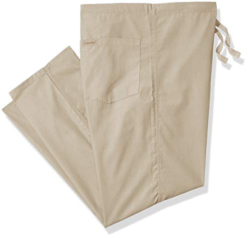 - Landau Unisex Reversible Drawstring Scrub Pants, Sandstone, Medium Petite