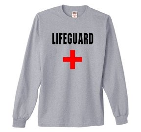 S.Horizon-LIFEGUARD Long Sleeve T-Shirt~Heather Gray~Adult-MD