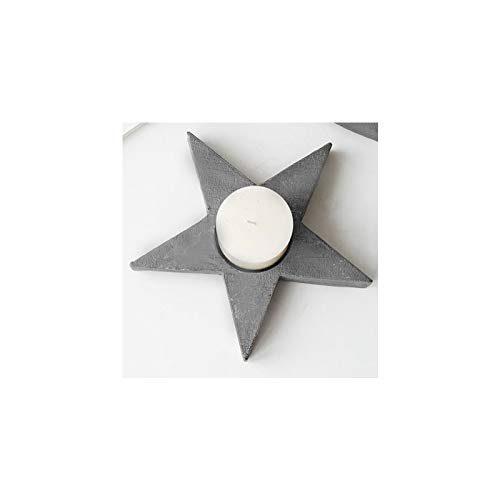 Water hep Candle Mold Star Shaped, Heart Type Candlestick Silicone Mold Cement Concrete Plaster Desktop Display Creative Candlestick Mould Star 2