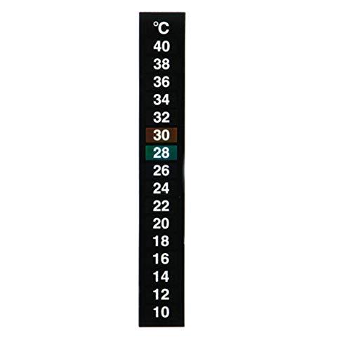 Yu2d  Digital Aquarium Fish Tank Thermometer Temperature Sticker Dual Scale(B) - Scale Family American
