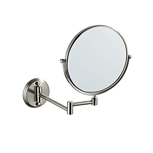 langrun Wall Mounted Makeup Mirror Stainless Steel Folding Double Side Magnifying Telescopic - Bathroom For Mirrors Telescopic