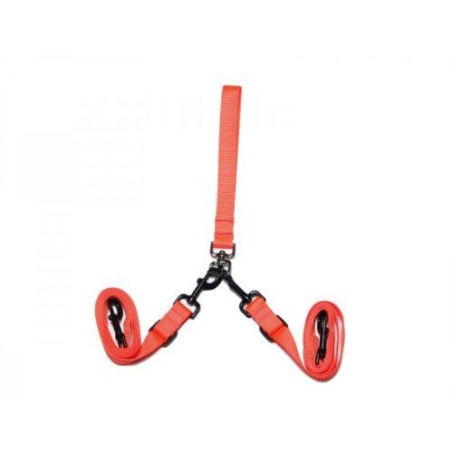 Max & Zoey 3 4-Inch Wide Double Dog Leash, Bright orange