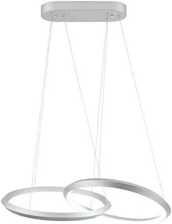 Royal Pearl Modern Chandelier LED 2 Rings Adjustable Pendant Light Contemporary 46W 2300LM Cool White 6000k Pendant Chandelier