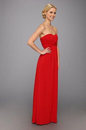 Jessica Simpson Women's Strapless Maxi Dress, Red, 8