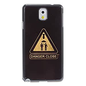 ZXC Samsung Galaxy Note 3 compatible Special Design Plastic/Metal Back Cover