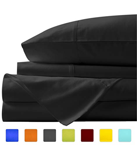 - New York Mercado Super soft, elegant and Premium Quality, 100% Egyptian cotton, made in USA Italian finish 600 TC, long stapled 4-pc bedding sheet set with 21
