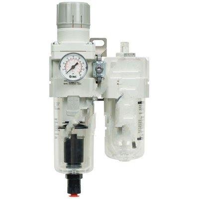 SMC Corporation AC20-N02CG-CZ-A Air Filter/Regulator/Lubricator 150 PSI 1/4NPT Ports Auto Drain NC Press Gauge by SMC Corporation