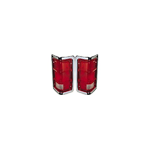 - Tail Light compatible with Dodge Full Size P/U 88-93 RH and LH Included Lens and Housing W/Chrome Trim Left Right