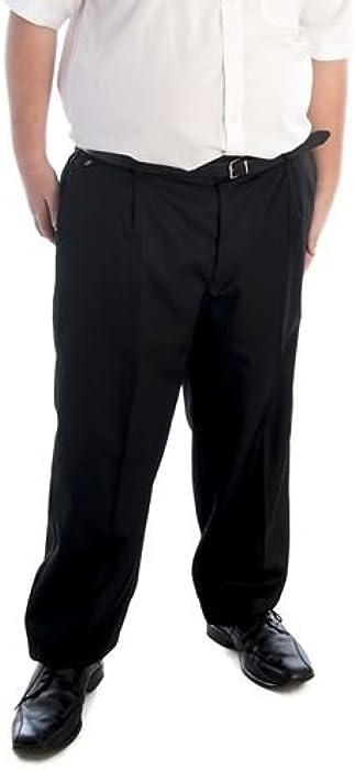 205e02072b5 Senior Boys Sturdy Fit Trousers Black Small Inside Leg 29in  Amazon ...