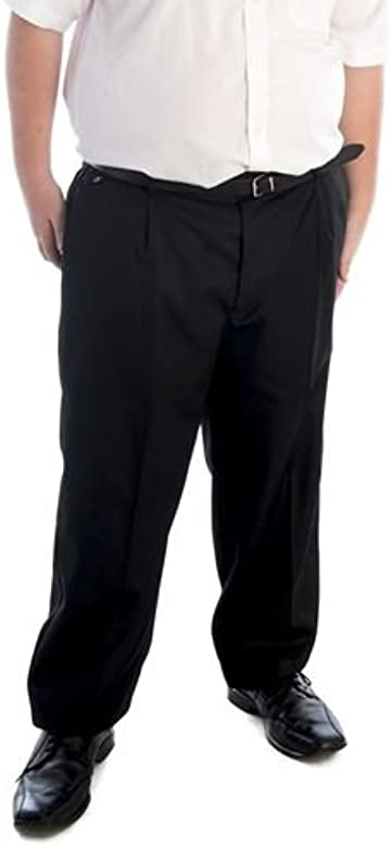 Senior Boys Sturdy Fit Trousers Charcoal Grey or Navy Waists 26 in Black 42in
