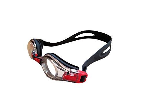 Swimming Goggles Racing No Leak Anti Fog Red Comfortable (Pre Gasket Rinse)