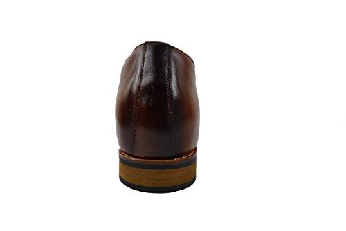 Zerimar Herren Schuhe mit Unsichtbarer Erhöhung 7 cm Schuh Aus Hochwertigem Leder Farbe Leder Größe 39