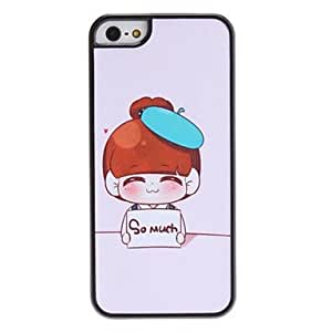 LCJ Shy Girl Pattern Hard Case for iPhone 5/5S