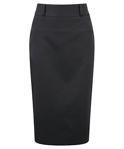 Alexandra pflegeleichte stc-nf133bk-26s Rock, Uni, 100% Polyester, kurz, Größe 26, schwarz