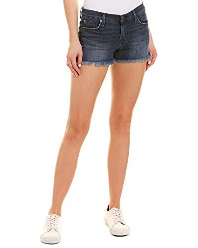 (Hudson Jeans Women's Amber Raw Edge Hem 5 Pocket Jean Short, Blue Crest, 29)
