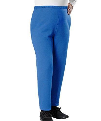 Silvert's Wheelchair Trackpants Womens Adaptive Clothing Fleece Pants - Blue 2XL