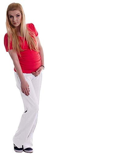 Pantalones de blanco mujer 12babyline deportivos PwdqP6