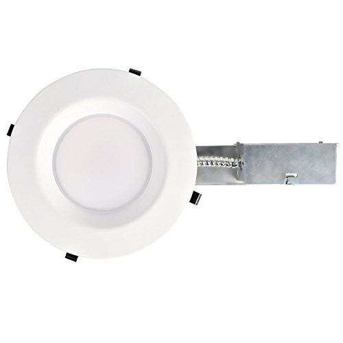 Hykolity 6 Inch White LED Remodel Recessed Lighting Kits, IC Rated Remodel Housing and Dimmable LED Downlight Wet Rated 15W 1100lm 5000K Daylight White ETL Listed - Pack of 4 by hykolity (Image #6)