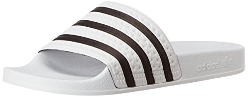 adidas Adilette, Baskets Basses Homme Blanc Cassé (White/cblack/white 280648)