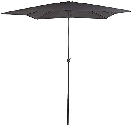 AKTIVE Garden 53876 Parasol cuadrado 300 x 300 cm, antracita ...