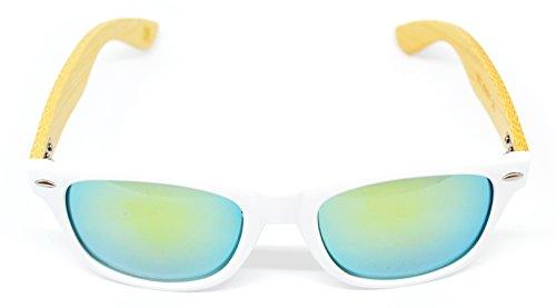 de Millennium de WOOD Blanco Star 2018 unisex Amarillo sol colección gafas nueva Satx7Hwa