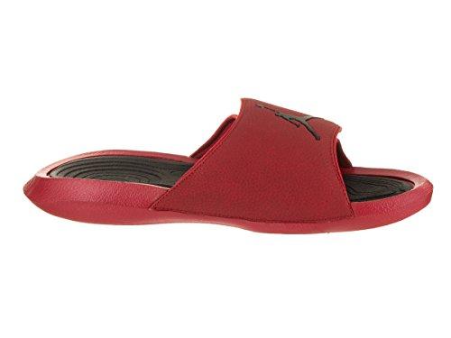 Nike Jordan Mens Hydro 6 Sandali In Pelle Sintetica Palestra Rosso Nero