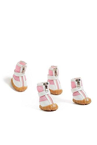 Dachshund Poodle (Medium Dog Boots Mesh Shoes For Dachshund Poodle French Bulldog Pug Mini Schnauzer (Medium Size, Pink))