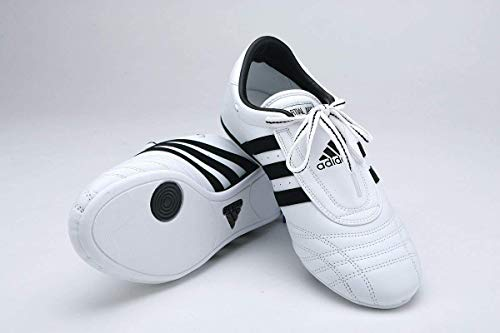 adidas Sm II Training Martial Arts Leather Shoes (White, 10.5) (Shoes Martial Arts Adidas)