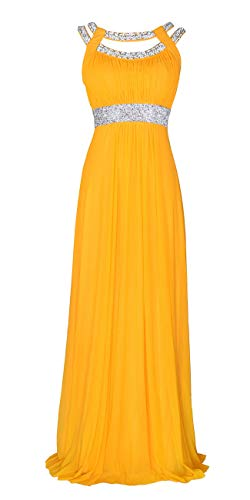 conail Coco Women's Elegant Royal Formal Dresses Wear Long Wedding Party Gowns (XLarge, 70Yellow) ()
