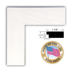 White Stain on Beech Art to Frames 2WOM0066-81791-YWHT-12x33 12 by 33-Inch Picture Frame 1.875-Inch Wide