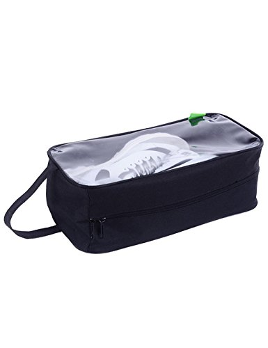 Corgy Portable Travel Shoe Bags,Travel Clear Single Layer Shoes Storage ,Black (Bags Shoes Wholesale And)