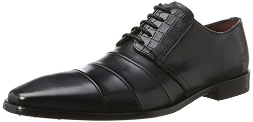 Melvin&Hamilton Elvis 29 - Zapatos Derby Hombre Schwarz (Crust/ Croco Black Washed (1, 2, 3, 4, 6)/ Black Washed (5, 7), Ls Blk)