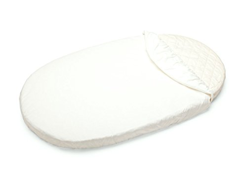 Oval Crib Set - Stokke Sleepi Fitted Sheet, White