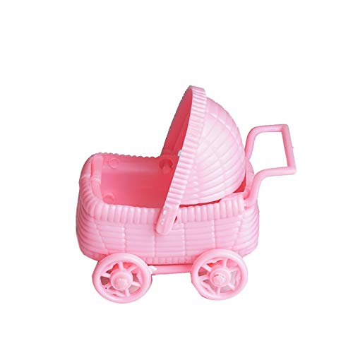 BalsaCircle 36 Pink Plastic Carriage Baby Shower Favors Fillers Table Scatters for Party Gifts Decorations Supplies