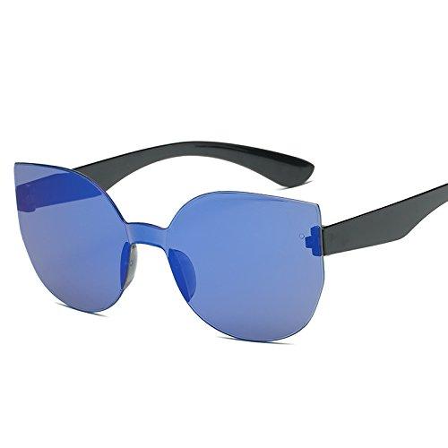 Uv400 Sol Gafas Cuadrado Vintage Mujer Reborde De KLXEB Blau De Sol Púrpura Revestimiento Gafas YIxzq5T