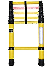 200cm Telescoping Ladder Aluminum One-Button Telescopic Ladder Portable Ladder for Household and Work