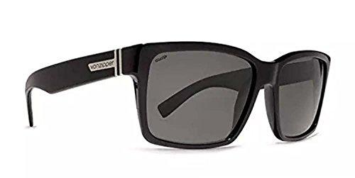 Von Zipper Elmore Sunglasses Black Gloss/Wild Vintage Grey Polarized & Carekit (Von Vintage Zipper Sunglasses)