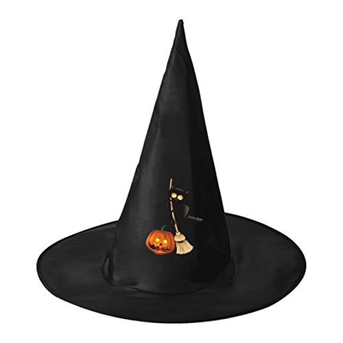 SeSHU Black Wicked Cat Black Magic Hat Witch Cap in Halloween Fancy Ball