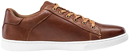 Pictures of JOUSEN Men's Leather Fashion Sneakers Business Classic Leather Fashion Sneaker 5