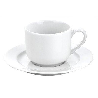 (Pillivuyt France, Sancerre, French Porcelain 6 Ounce Tea Cup AND Saucer Set)