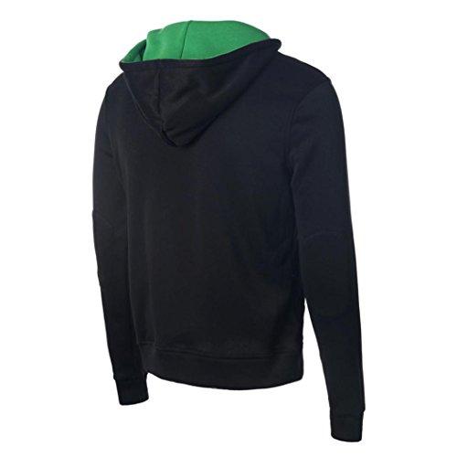 Jacket Winter Familizo Tapas Hooded Outwear Noir Sweatshirt Homme qZ54xPn
